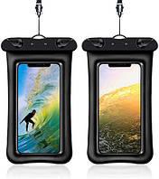 Чехол для смартфона водонепроницаемый универсальный AirCase черный, фото 1