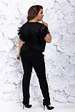 Женский летний комбез классический для дам с пышными формами, р.48,50,52,54 Код 800Ю, фото 5