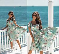 НН41217 Женское красивое летнее платье в цветочный принт