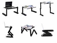 Столик трансформер для ноутбука Laptop Table T8, Подставка для ноутбука, фото 5