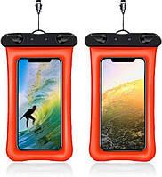 Чехол для смартфона водонепроницаемый универсальный AirCase оранжевый, фото 1