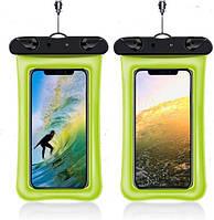 Чохол для смартфона водонепроникний універсальний AirCase зелений, фото 1