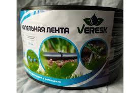 Капельная лента щелевая Veresk отверстия через 30 см, расход воды 1,2 л/ч,8mil длина 100 м (BL30-100J)