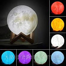Светильник сенсорный луна 15 см 3D Moon Lamp Настольная лампа  детский ночник луна Moon Light 5 режимов, фото 3