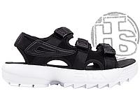 Женские сандалии Fila Disruptor 2 Sandal Black White FS1HTZ3082X