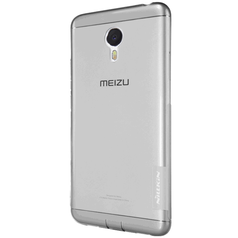 Накладка Milkin для Meizu M3 Note, силікон, Transparent Grey