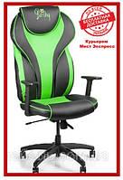 Геймерское компьютерное кресло Barsky Sportdrive Green Arm_1D  Synchro PA_designe BSDsyn-01