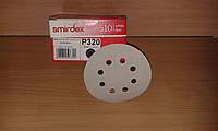 Шлифовальный круг SMIRDEX. Диаметр 125мм, 8отв., зерно 320,360,400,500,600,800.