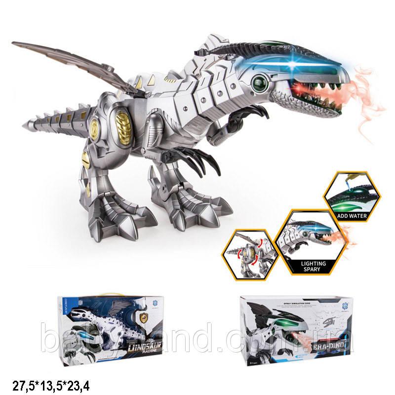 Робот динозавр на батарейках свет звук пар изо рта 881-3