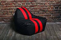 Бескаркасное Черное кресло мешок диван Ferrari, Феррари