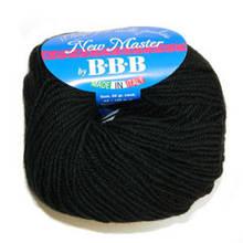 Пряжа для вязания НЬЮ МАСТЕР Италия цвет черный 200