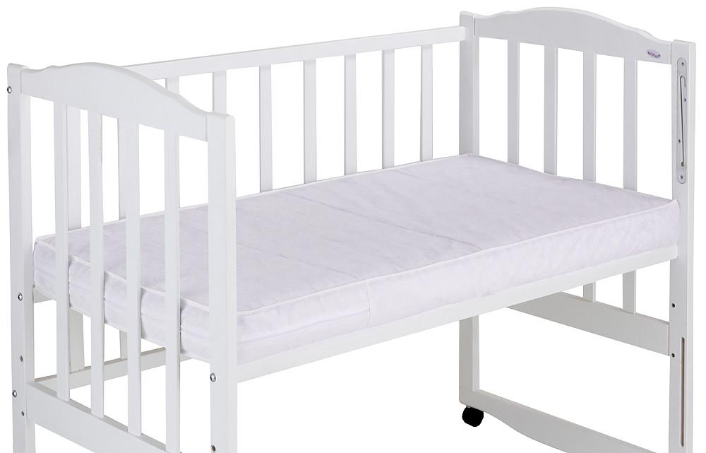 Матрас детский в кроватку (кокос, поролон) 11 см белый 60х120