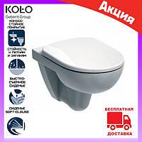 Унитаз подвесной безободковый Kolo Rimfree Nova Pro M33120000 с сиденьем микролифт Duroplast M30112000