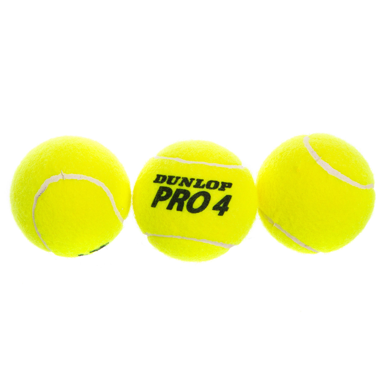 Мяч для большого тенниса DUNLOP (3шт) PRO TOUR 3B (в вакуумной упаковке, салатовый)