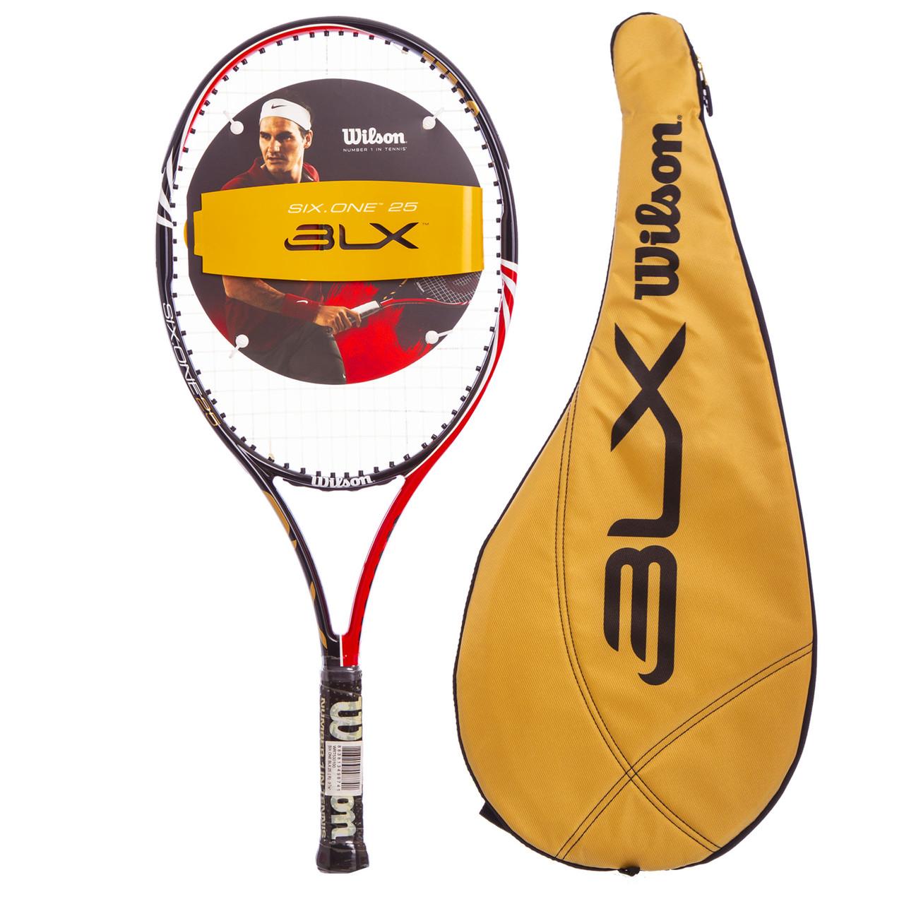 Ракетка для большого тенниса WILSON SIX ONE BLX 25 (черный-красный)
