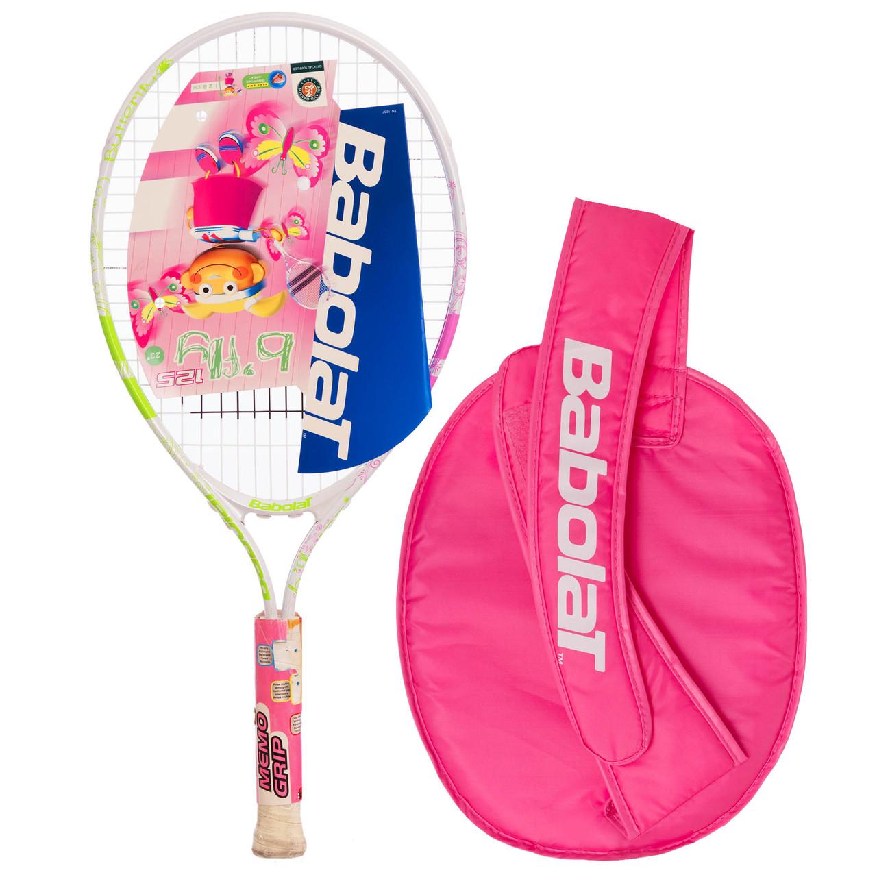 Ракетка для большого тенниса юниорская BABOLAT B FLY 125 JUNIOR (салатовый)