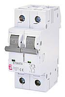 Автоматичний вимикач модульний 2P 50А х-ка С 6кА, ETI ETIMAT 6 (2143521)