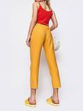 Стильные укороченные брюки с поясом, фото 5