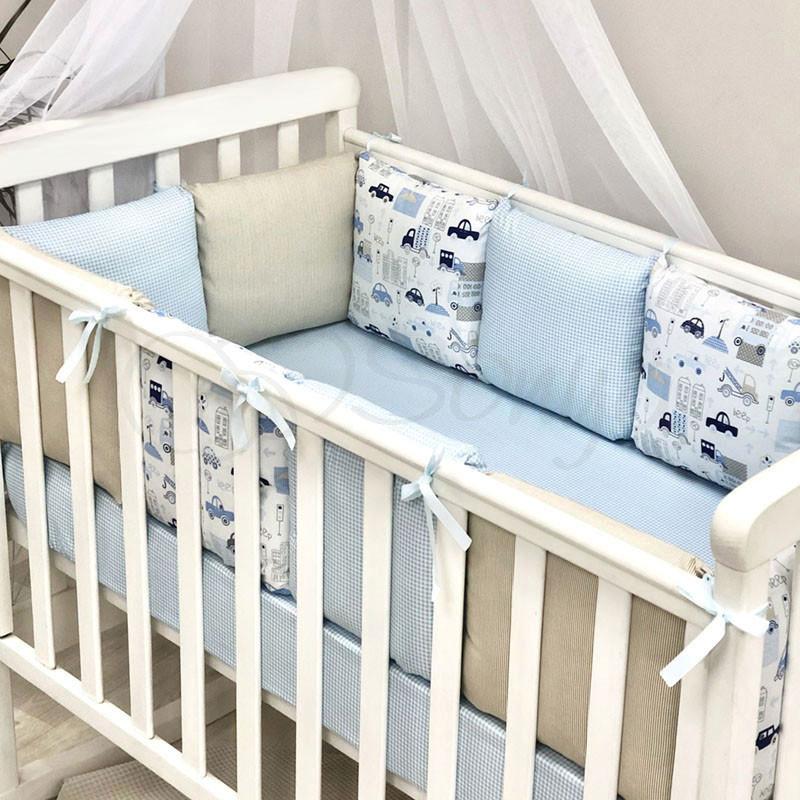 Бортики в детскую кроватку Baby Design Премиум City