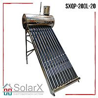 Солнечный коллектор SolarX SXQP-200L-20 напорный термосифонный на 20 трубок для нагрева 200л воды
