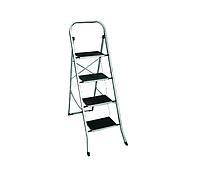 Стремянка 4-х ступенчатая с широкими прорезиненными ступенями