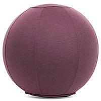 Мяч для фитнеса (фитбол) с чехлом 65см (PVC, полиэстер, цвета в ассортименте, ABS технология)