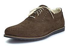 Легкие коричневые туфли нубук летняя обувь больших размеров мужская Rosso Avangard BS Romano EVA Brown NUBPerf