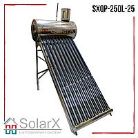 Солнечный коллектор SolarX SXQP-250L-25 напорный термосифонный на 25 трубок для нагрева 250л воды
