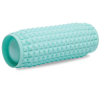 Роллер надувной для занятий йогой и пилатесом Grid Roller l-33см (PVC, d-10см, l-33см, цвета в ассортименте)