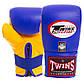 Снарядные перчатки кожаные TWINS  (р-р M-XL, цвета в ассортименте), фото 9