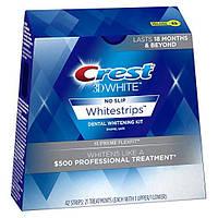 Отбеливающие полоски для зубов CREST 3D White Supreme FlexFit упаковка 21 пара. (6 тонов)