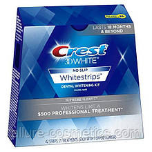 Відбілюючі смужки для зубів CREST 3D White Supreme FlexFit упаковка 21 пара. (6 кольорів)
