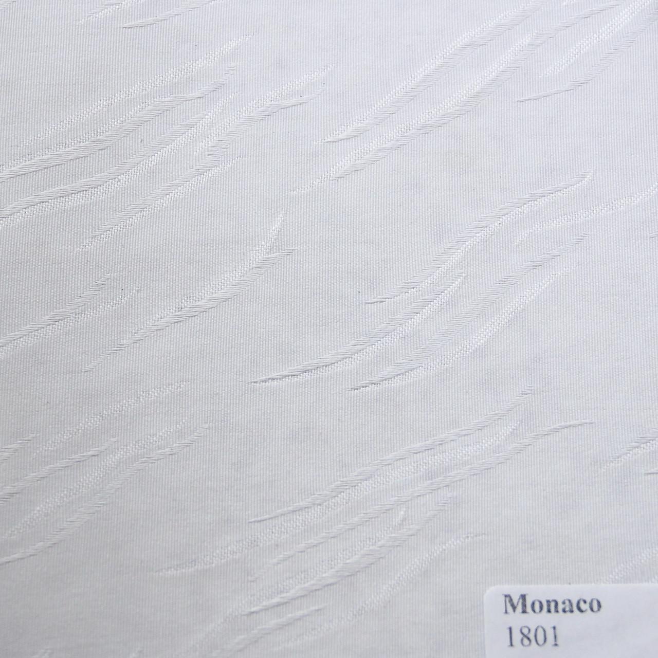 Рулонные шторы Ткань Монако Белый 1801