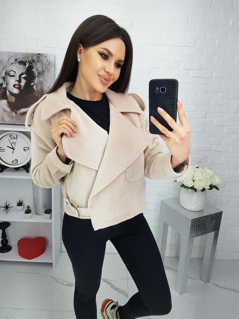 Женский вельветовый жакет-куртка косуха