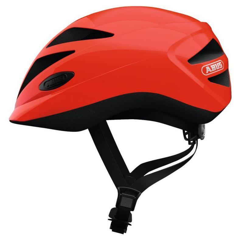Велосипедний дитячий шолом ABUS HUBBLE 1.1 S 46-52 Shiny Shrimp