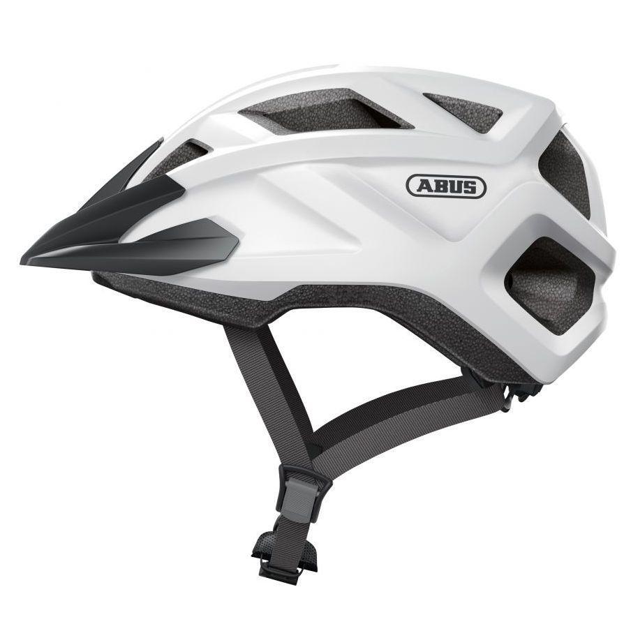 Велосипедний дитячий шолом ABUS MOUNTZ M 52-57 Polar White