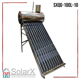 Cолнечный коллектор SolarX SXQG-100L-10 безнапорный термосифонный на 10 трубок для нагрева 100л воды