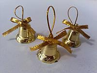 Набор к новому году Колокольчики мини золотистые, фото 1
