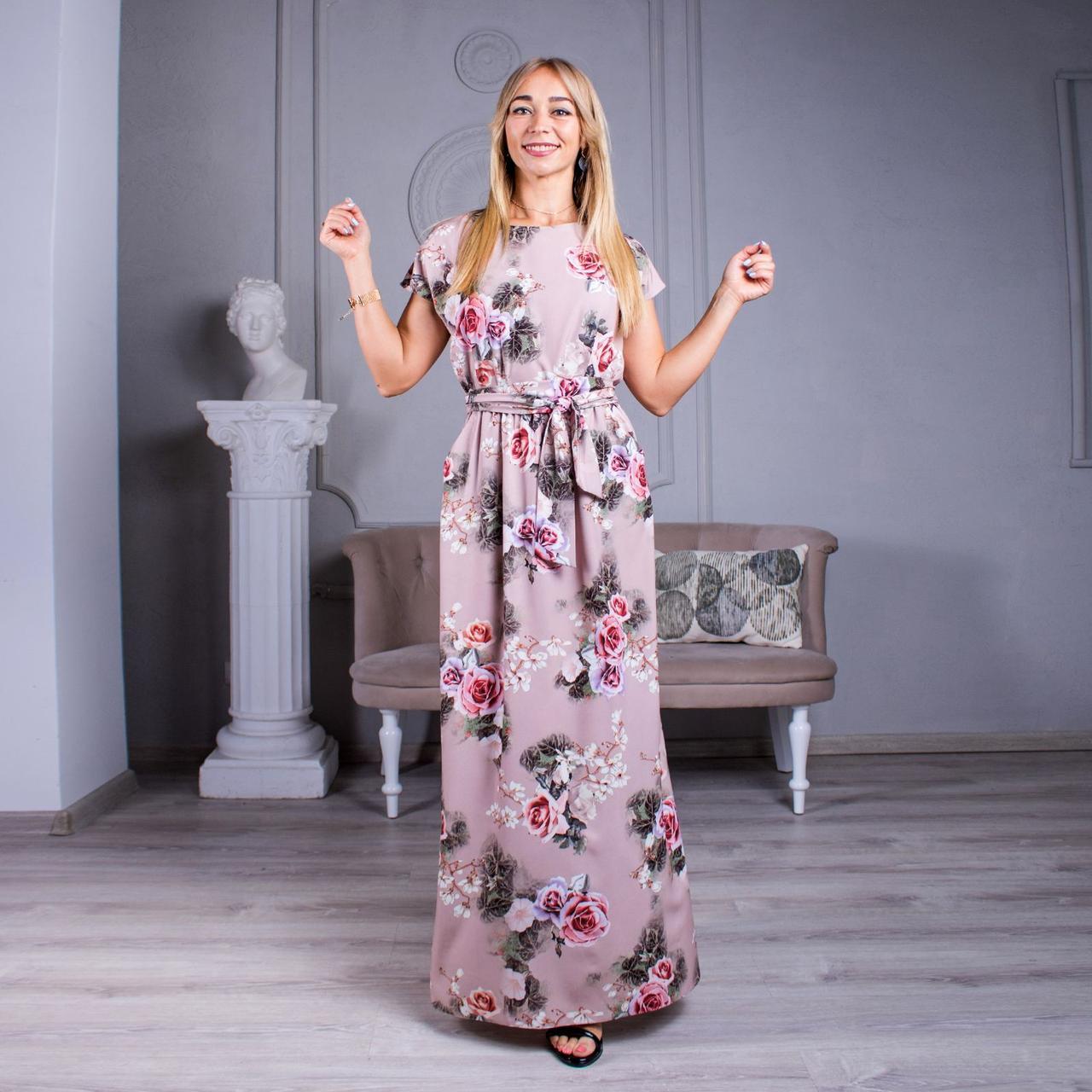 Довге плаття з квітковим принтом