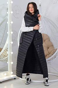 Женский длинный теплый жилет одеяло синтепон 100