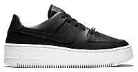 """Женские Кроссовки Nike Air Force 1 Sage Platform """"Black White"""" - """"Черные Белые"""", фото 1"""