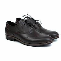 Коричневі чоловічі туфлі з натуральної шкіри броги взуття демісезонне Rosso Avangard Felicete Uomo Brown Crest, фото 1