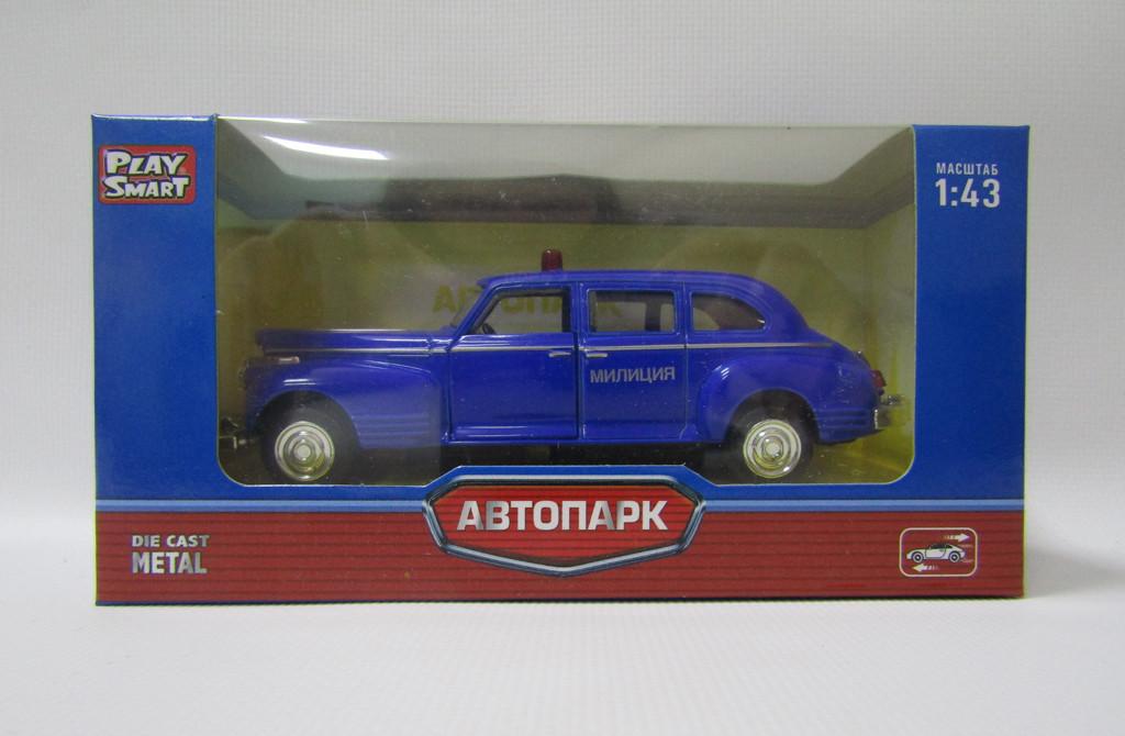 """Модель легковая PLAY SMART 6406A """"Автопарк"""" ретро метал.инерц.откр.дв.кор.14*5,7*6,8 ш.к./108/"""