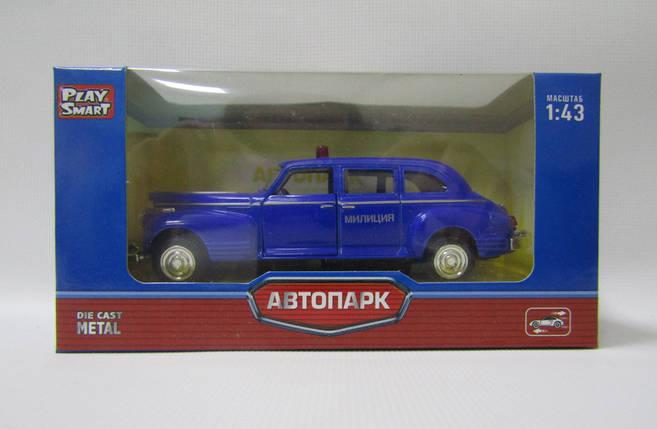 """Модель легковая PLAY SMART 6406A """"Автопарк"""" ретро метал.инерц.откр.дв.кор.14*5,7*6,8 ш.к./108/, фото 2"""