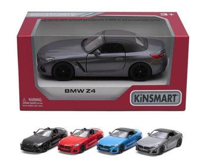 Модель легковая 5'' KT5419W BMW Z4 метал.инерц.откр.дв.4цв.кор./96/