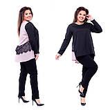 Женский брючный костюм летний с брюками и блузой, разные цвета, р.48,50 Код 798Ю, фото 4