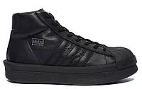 """Женские Кроссовки Rick Owens × Adidas Mastodon Pro II """"Black"""" - """"Черные"""""""