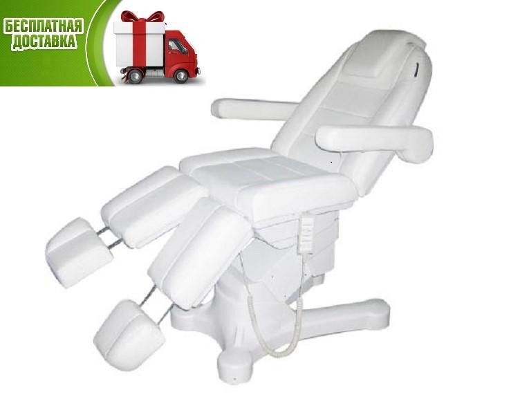 Кресло педикюрное косметологическая кушетка  электрическая автоматическая 5 эл.моторов  для подолога педикюра