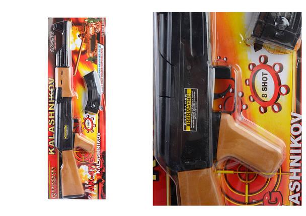 """Автомат """"АК-47"""" стреляет пистонами (в комплект НЕ ВХОДЯТ),р.23 x 71 x 3,5 см, на планшете/12/, фото 2"""