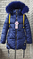 Куртка зимняя на девочку 128-152  размер в розницу, фото 1